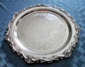 Wilcox I S International Silver Co 16 Silver Plated Tray Essex Manor 2872 Sale