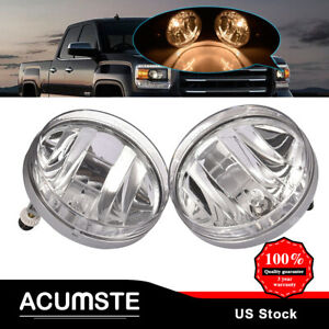 For 2007 2013 Gmc Sierra 1500 2500 Hd 3500 Hd Clear Lens Front Bumper Fog Light