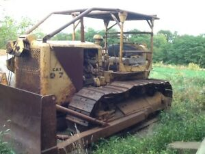 Vintage Caterpillar D7 with Blade For Parts Or Fix From Fathers Estate