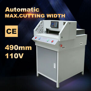 490mm 19 3 Programmable Paper Guillotine Cutter Stack Cutting Machine upgraded