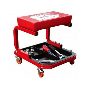 Creeper Seat Car Repair Mechanic Garage Tool Tray Shop Rolling Stool Sturdy New