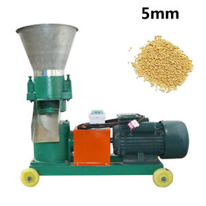Farm Household Animal Chicken Duck Feed Pellet Mill Machine 5mm 3kw 220v