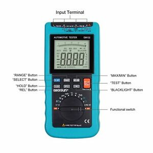 2 In 1 Multi Function Automotive Meter Digital Automotive Multimeter Lcd 3999