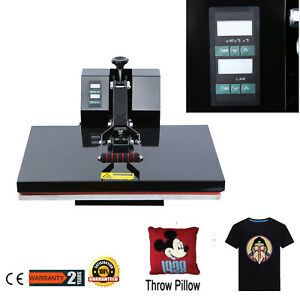 16x24 Timer Digital Clamshell Heat Press Machine Sublimation Transfer T shirt