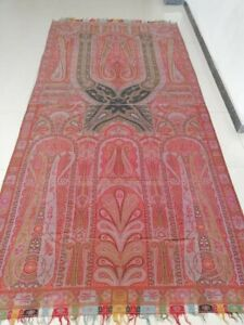 Antique 19th Century French Paisley Kashmir Shawl One Piece Two Differentdesigns