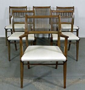 Set Of 6 Mid Century Modern John Van Koert Drexel Profile Dining Chairs