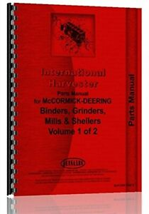 International Hammer Mill Corn Binder Ensilage Cutter Feed Grinder Parts Catalog