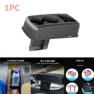 1pc Auto Seat Seam Wedge Truck Drink Cup Holder Travel Drink Mount Stand Black