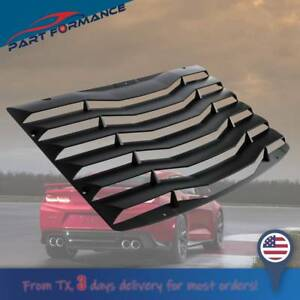 Rear Window Louver Cover Vents For 2016 2018 Chevy Camaro Matte Black