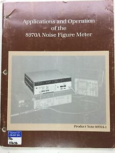 Hp 8970a Noise Figure Meter Applications Operation Manual P n 5952 8254
