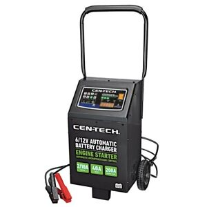 Automatic Shop Car Automotive Battery Charger 6v 12v Jump Start Auto With Wheels