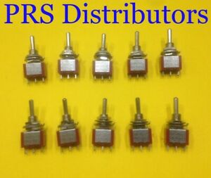 Mini Toggle Switch 3 Position On off on Spdt 5a 125v 10 Pieces