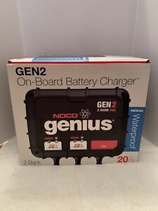 Noco Gen2 20 Amp 2 Bank 12v Waterproof Onboard Deep Cycle Battery Charger