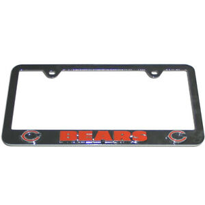 Chicago Bears Nfl Chrome 3d Deluxe Novelty License Plate Car Tag Frame