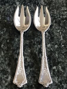 Persian By Tiffany Co Sterling Silver Ice Cream Forks 3 Tine Original No Mono