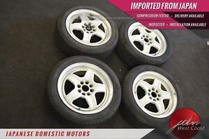 Jdm Wedssport Rims Rs 5 15x6 4x100 40 Off White Competition Set Of 4 W Tires