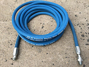 25ft 3 8 4000psi Blue Non marking Pressure Washer Hose flexible new