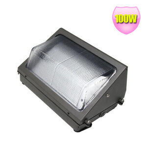 100watt Led Wall Pack Light Replace 400w Hps Garage Door Driveway Light 5000k