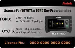 Autek Ikey820 Ford 2018 And Toyota G And H Software License