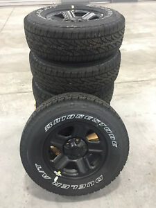 16 Inch Jeep Wrangler Black Wheel With 245 75 16 Inch Bridgeston A T Tires