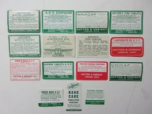 15 Old Pharmacy Apothecary Medicine Bottle Labels Vintage Ephemera Lot