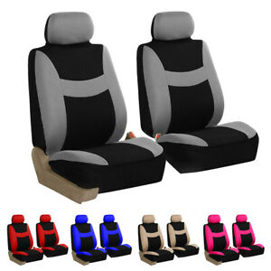 5 Seater Car Seat Covers Full Set For Auto Steering Wheel Belt Pad 5 Head Rest