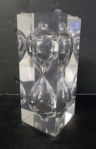 Vintage Mid Century Modern Lucite Acrylic Hourglass Sand Timer Sculpture Decor