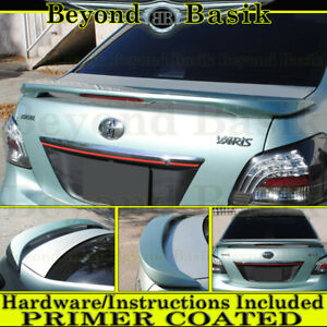 For 2007 08 09 10 11 2012 Toyota Yaris Factory Style Spoiler Wing Fin Primer