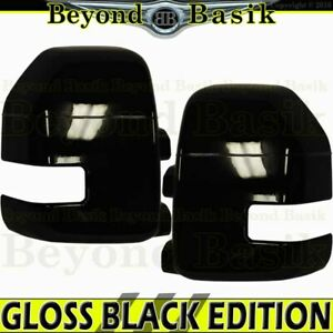 2017 2018 2019 2020 2021 Ford F250 F350 Gloss Black Mirror Covers W signal Hole