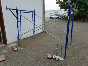 17 Bon 5 X 6 6 X 8 Walk Thru Scaffolding Frame Sets Planks Leveling Jacks