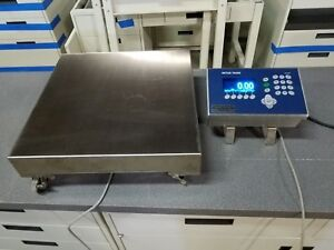 Mettler Toledo Scale Ss 18 x18 Mobile Base W ind560 Plus Controller 150lbs Cap