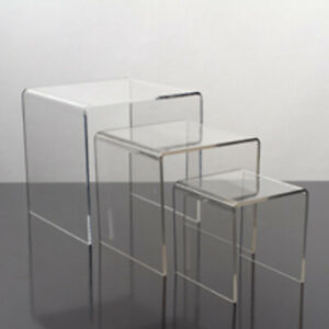 Small Acrylic Display Risers With 3 Piece