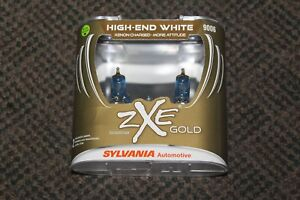 New Sylvania Silverstar Zxe Gold 9006 Headlight Xenon Charged Bulbs Free S