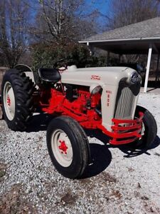 Nice 1955 Ford 600 garden Tractor W Disk Clean And Restored 10 Hrs On Motor