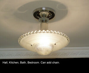535b Vintage Antique Ceiling Light Glass Fixture Vintage Chandelier Bedroom Hall