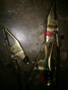 4 Jackson Gc 3 Welding Ground Clamps With 11 1 2 Foot Cables