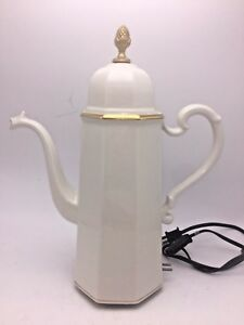 Ernest Sohn Mid Century Electric Water Heater Coffee Tea Pot White Porcelain