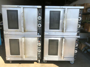 Lot Of 2 Hobart Hgc40 Double Stack Convection Oven In Natural Gas