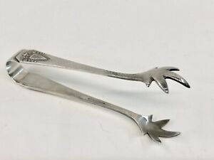 Vintage Rogers Bro Silver Plate Sugar Cube Tongs Eagle Claw