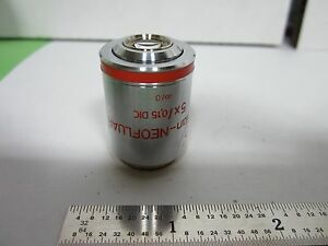 Microscope Part Objective Zeiss Germany Epiplan 5x Dic Infinity Optics f2 47