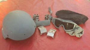 VERY NICE US MILITARY GENTEX MSA BAE ACH ARMY TACTICAL COMBAT HELMET XL
