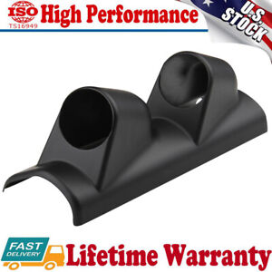 Double 2 Hole A Pillar Gauge Meter Pod Display Holder Cup Drift For Ford Mustang