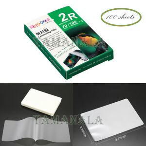 3 Clear Photo Paper Laminating Film 70 Mic100 Sheets Office Home Supply