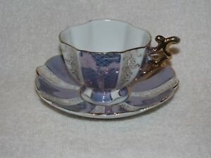 Vintage German Porcelain Tea Cup Saucer