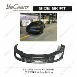 Forged Carbon Kit For 2017 2018 Porsche 971 Panamera Yc Design Rear Diffuser