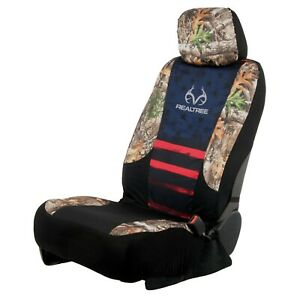 Realtree Seat Cover Americana Camo Lowback Universal Car Truck Suv