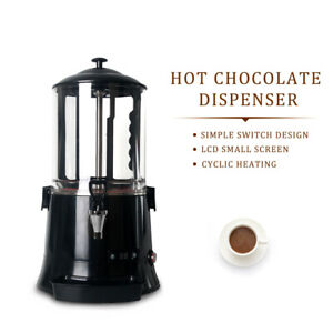 Black 10l Hot Chocolate Dispenser Machine Equipment Electronic Heating System