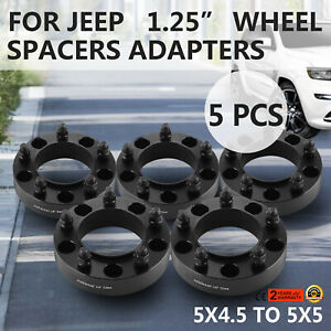 1 25 5pcs Hubcentric Wheel Spacers For Jeep Grand Cherokee 1993 1998 Thick