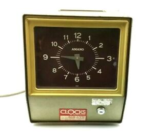 Vtg Amano Punch Time Clock Model 6507 Keeps Time Does Not Punch Cards Decor
