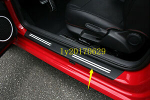 Carbon Fiber Car Door Sill Scuff Threshold Protect Cover For Vw Beetle 2013 2018
